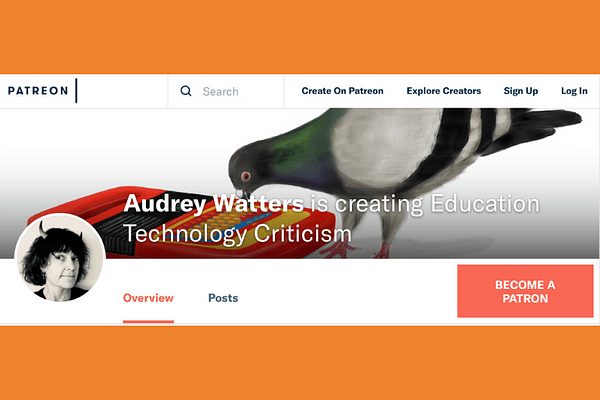 Support Audrey Watters on Patreon