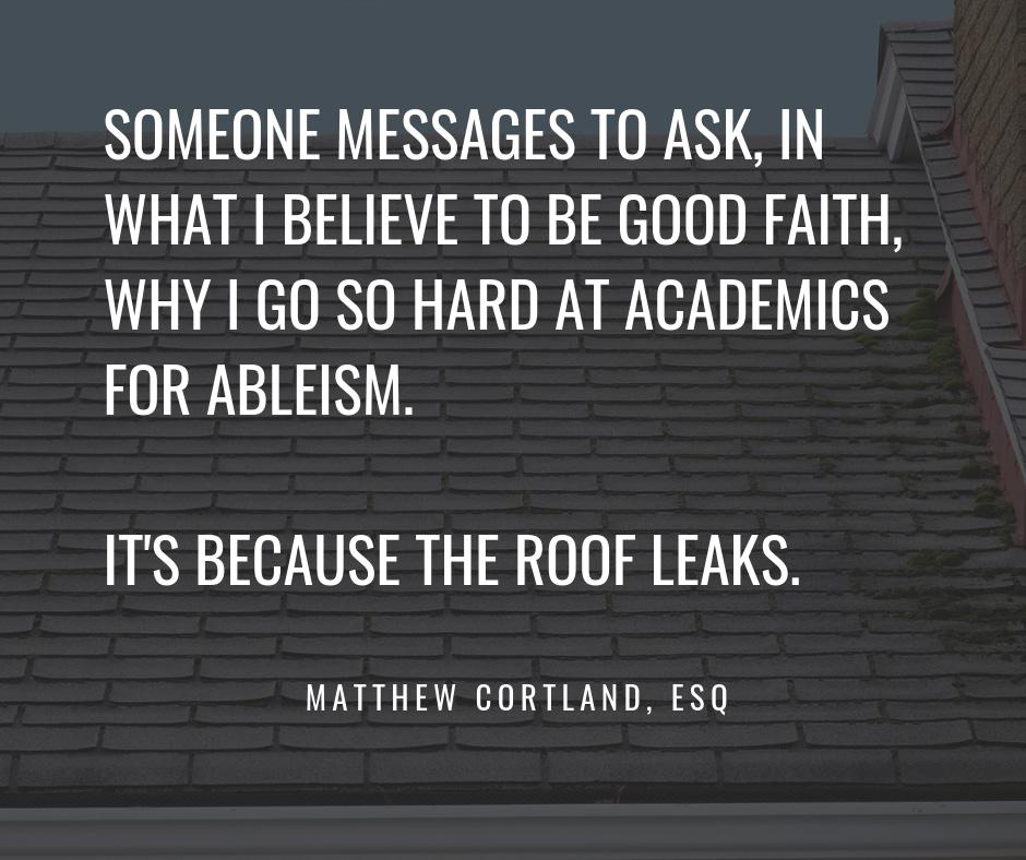 Matthew Cortland's roof leaks