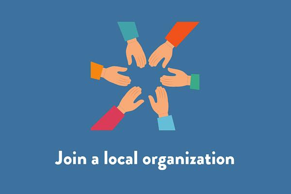 Join a local organization