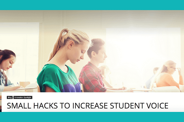 Small Hacks to Increase Students' Voice, by Mark Hofer