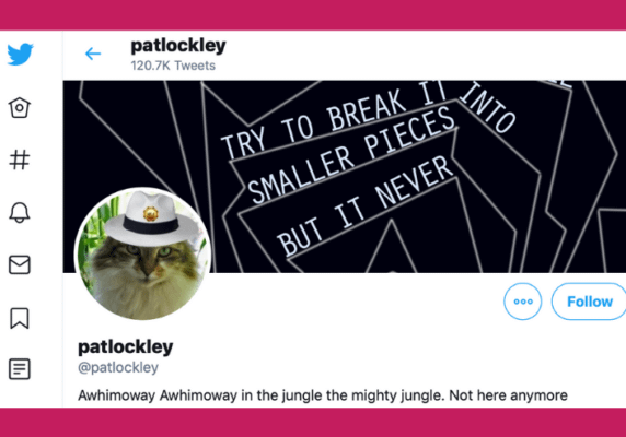 Twitter user: Pat Lockley (@patlockley)