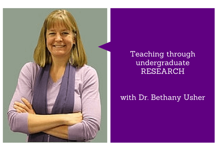 Teaching through undergraduate research