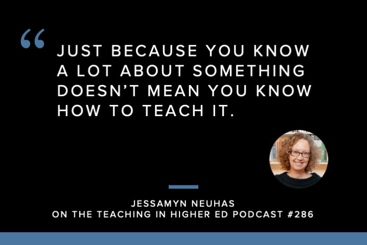 Just because you know a lot about something doesn't mean you know how to teach it.