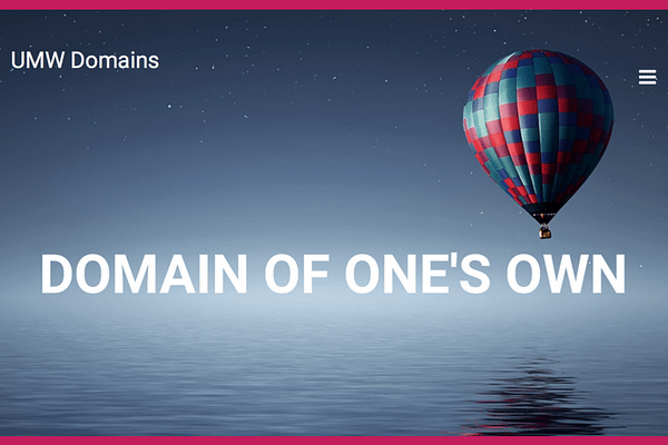 Domain of One's Own