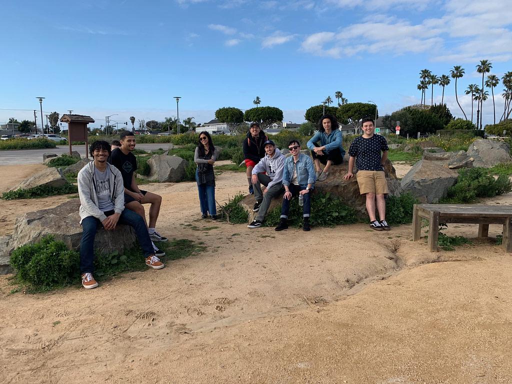 Podcast listening at Back Bay, Newport Beach