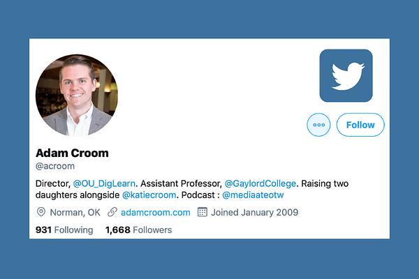 Adam Croom from OU