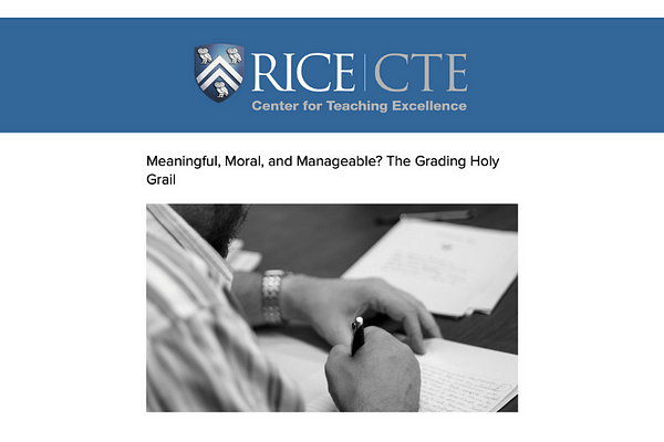Blog: Meaningful, moral, and manageable? The grading holy grail, Betsy Barre