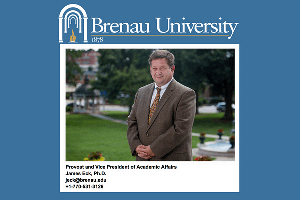 Brenau University's Jim Eck, Emily Zank