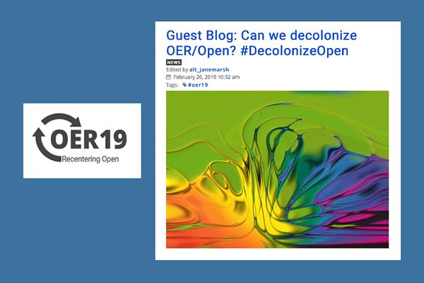 Can We Decolonize OER/Open, by Adam, Bali, Hodgkinson-Williams & Morgan