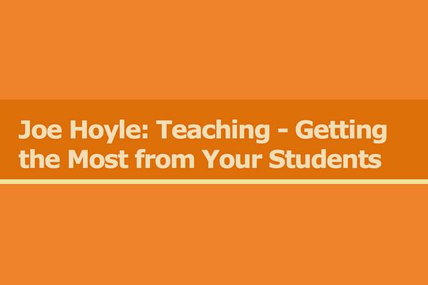 Joe Hoyle's Teaching Blog