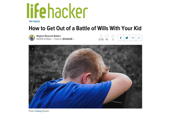 How to Get Out of a Battle of Wills With Your Kid