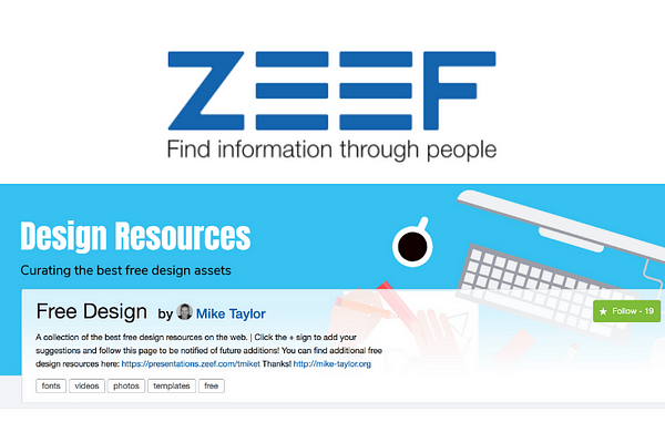 Mike Taylor's Free Design Resources on ZEEF