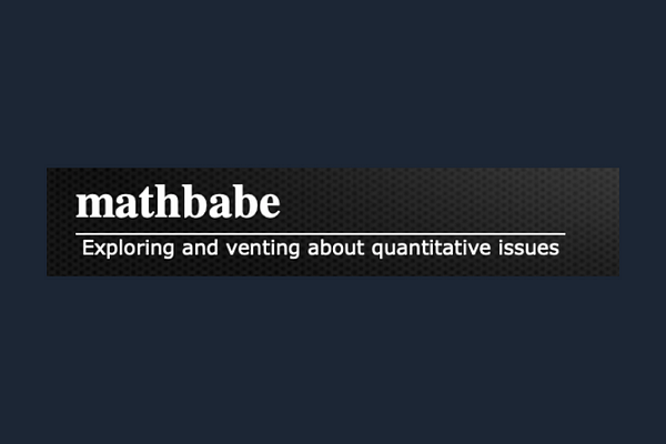 Cathy O'Neal's Math Babe Blog