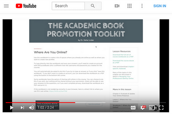 Trailer – The Academic Book Promotion Toolkit
