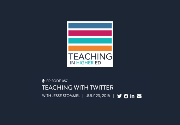 TIHE Episode 57: Teaching with Twitter