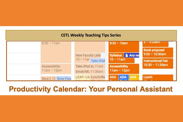 Productivity Calendar Teaching Tip
