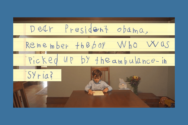 6-Year-Old Asks Obama to Bring a Syrian Boy to Live with Him