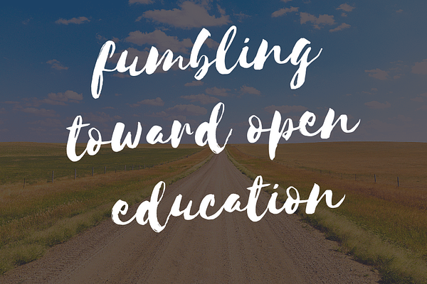 open education title graphic