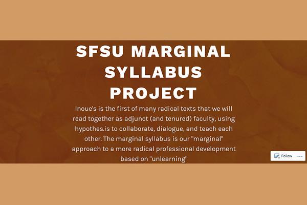 SFSU Marginal Syllabus