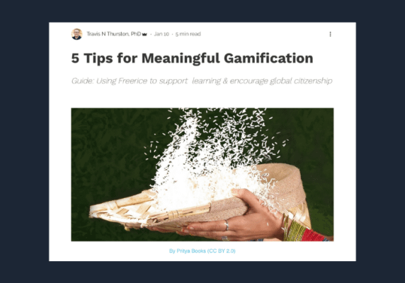 Meaningful Gamification with Freerice