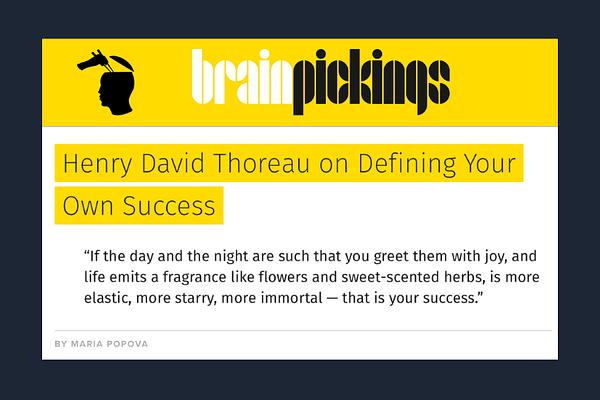 Thoreau on Success - Brain Pickings
