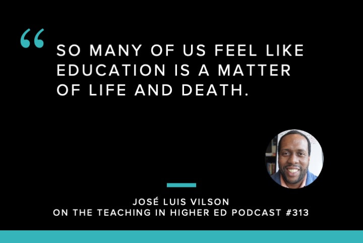 So many of us feel like education is a matter of life and death.