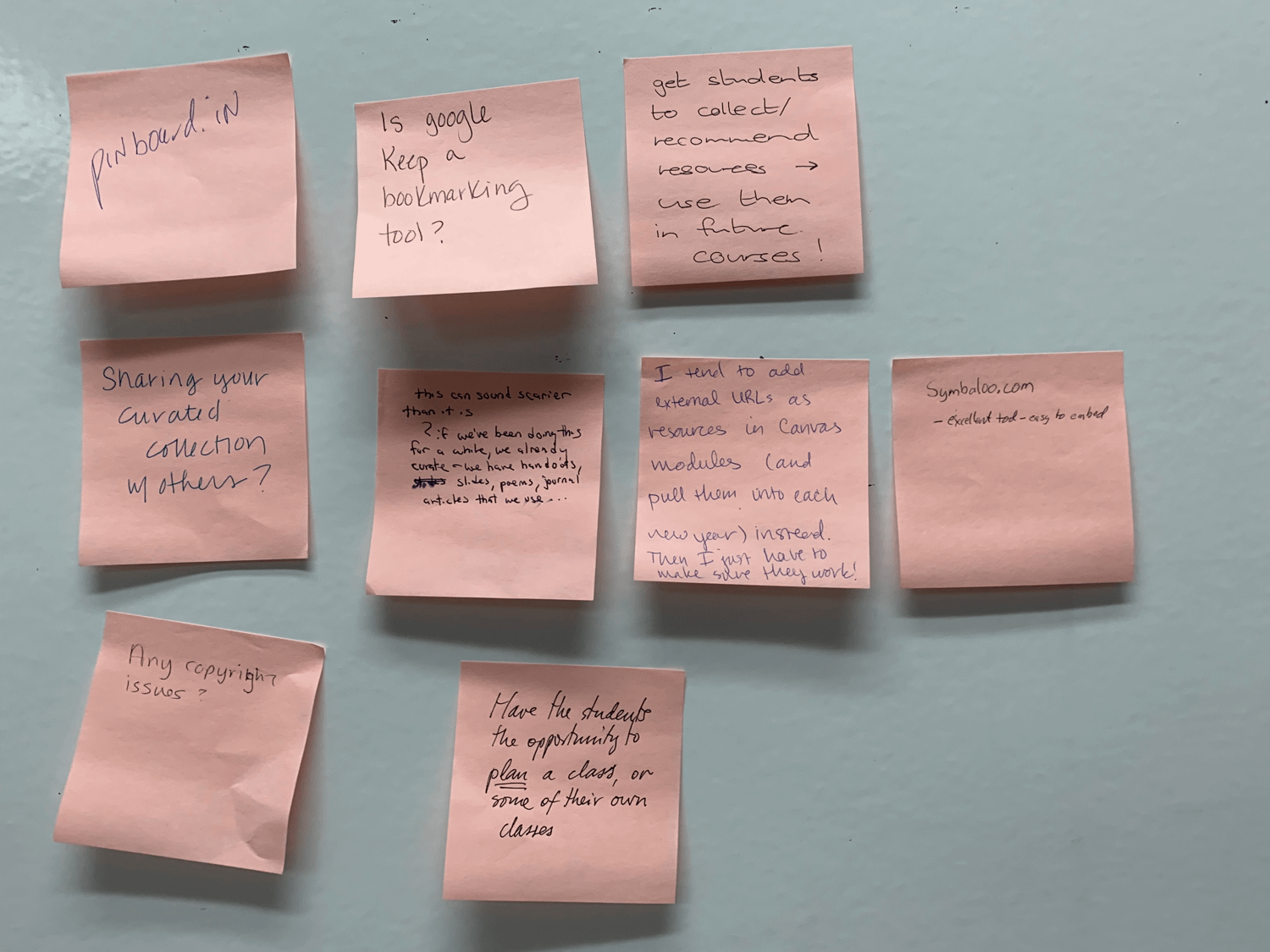 Curate2 stickies