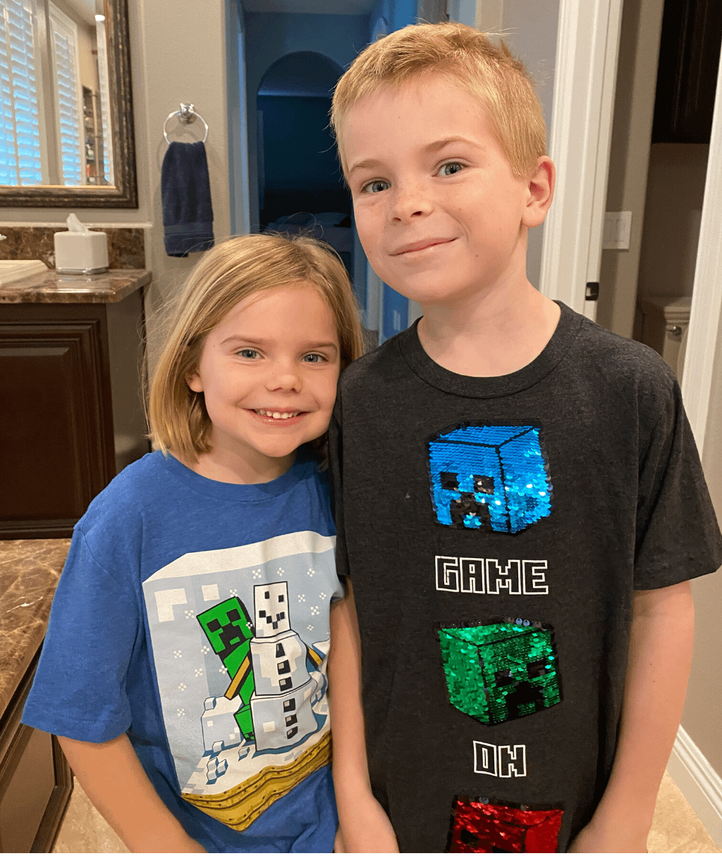 Minecraft shirts - brother and sister
