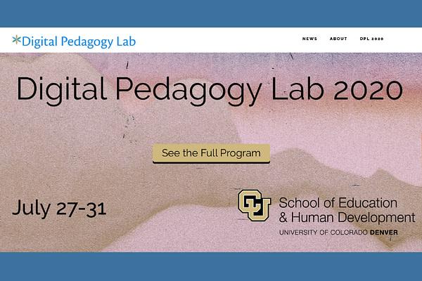 Digital Pedagogy Lab 2020