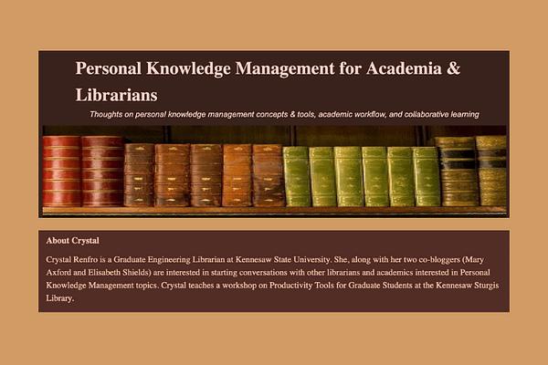 Academic PKM - Chrystal Renfro