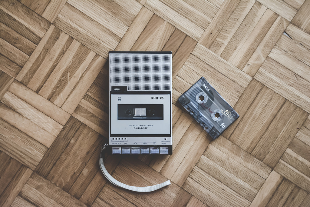 Cassette Tape Photo by Simone Acquaroli on Unsplash