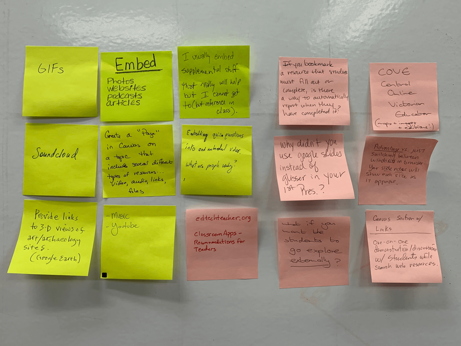 embed stickies