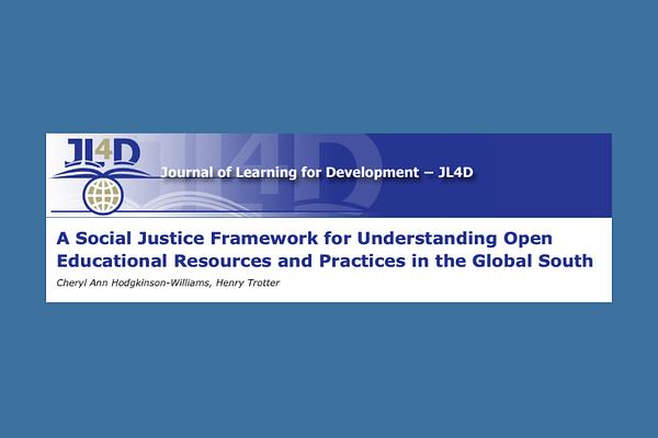 A Social Justice Framework by Ann Hodgkinson-Williams & Trotter