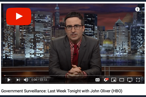 John Oliver talks Government Surveillance on Last Week Tonight