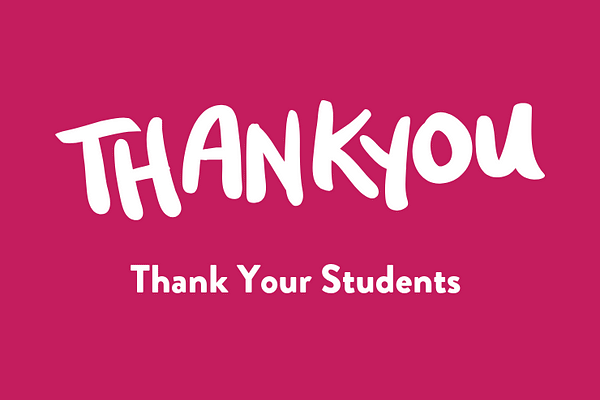 Thank your students
