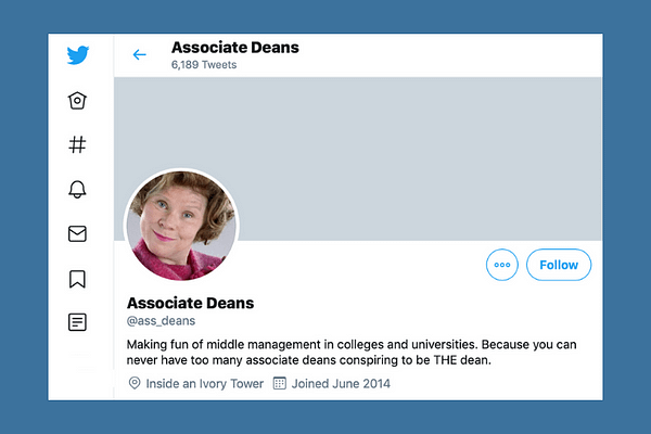 Associate Deans on Twitter