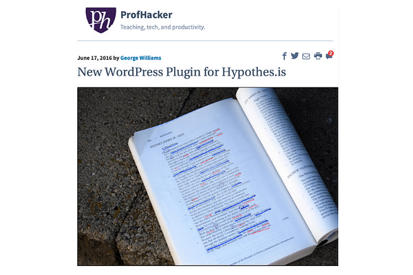 WordPress plugin for Hypothes.is