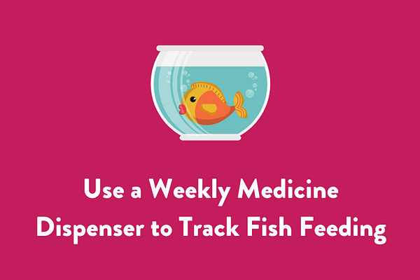 Use a Weekly Medicine Dispenser to Track Fish Feeding