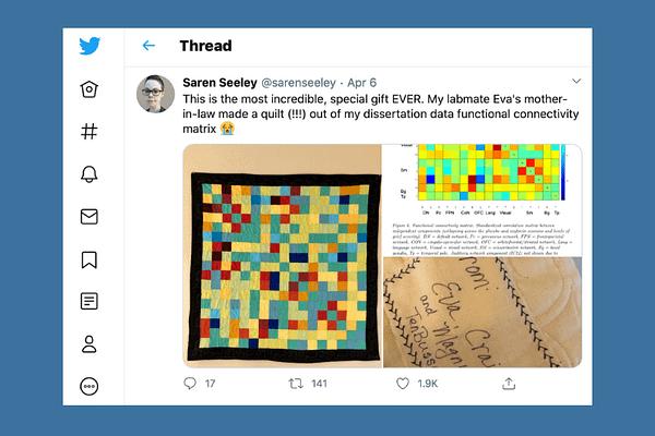 Tweet from Saren Seeley