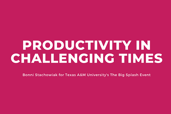 Productivity in challenging times