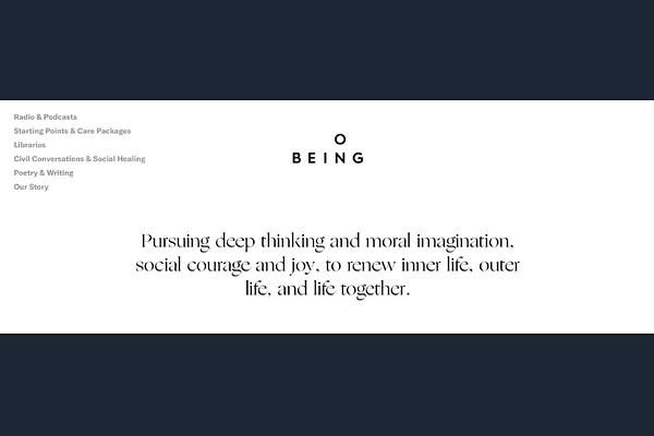 On Being Website