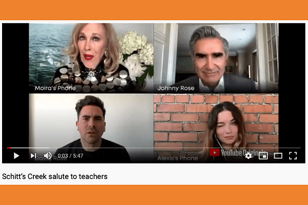 Schitt's Creek salute to teachers