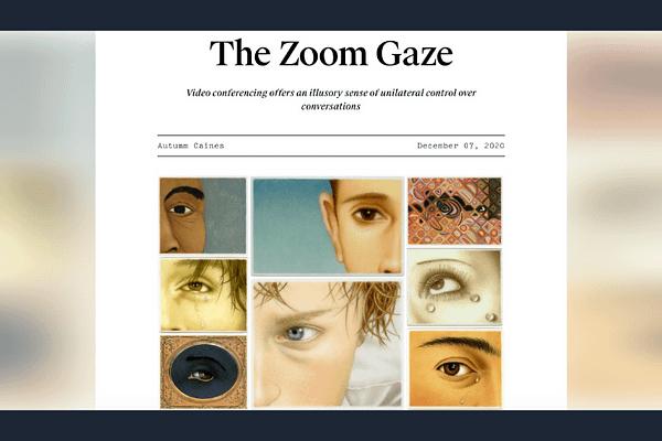 The Zoom Gaze, by Autumm Caines