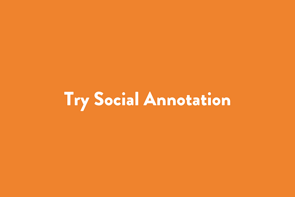 Try Social Annotation