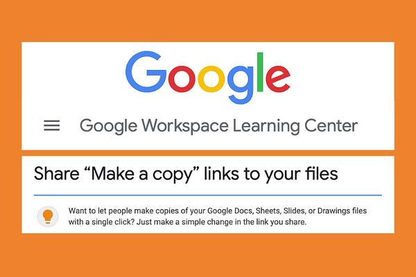 Make a link to copy a Google file