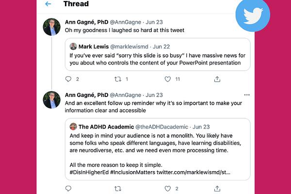 Ann Gagné's tweet