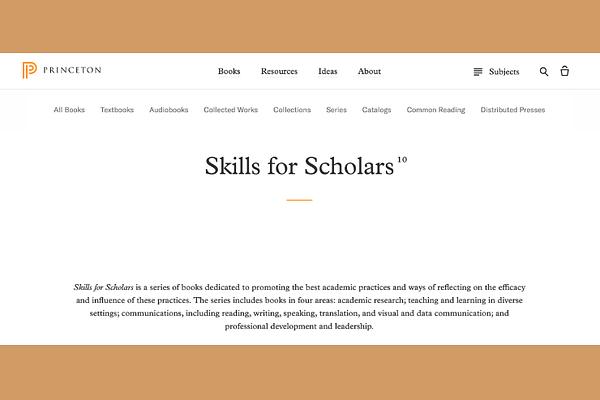 Skills for Scholars Book Series