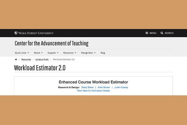 Use the workload estimators