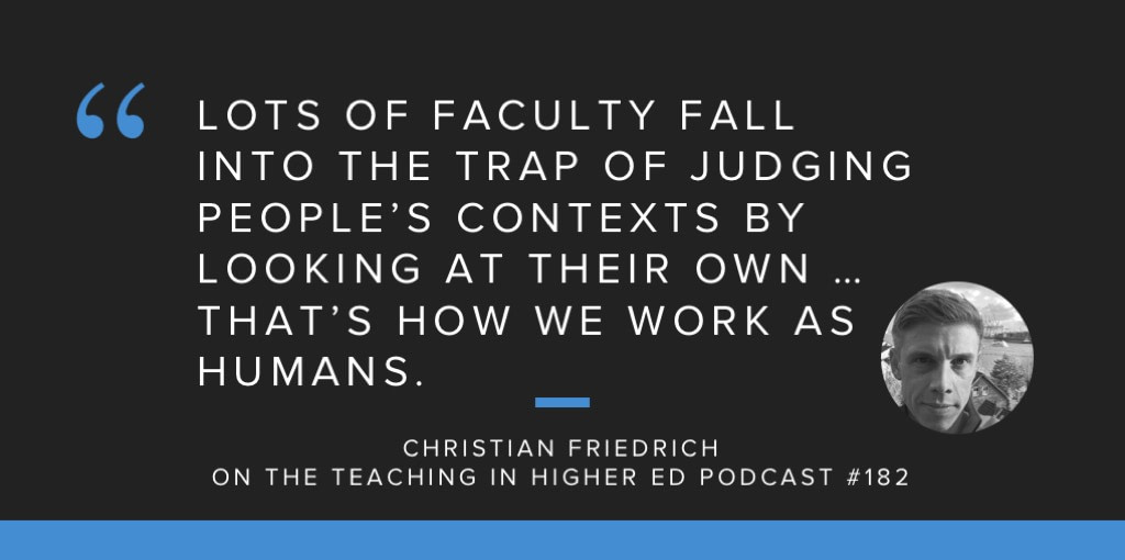 Faculty fall into trap of judging based on their own context