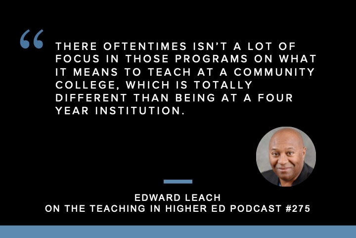 Edward Leach shares about Reaching All Learners Through Innovation and Teaching Excellence on episode 276 of the Teaching in Higher Ed podcast